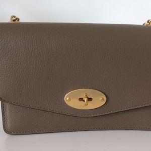 Mulberry Small Darley Solid Grey Classic Grain